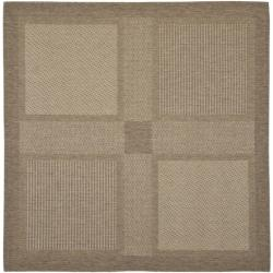 Safavieh Poolside Brown/ Natural Indoor Outdoor Rug (6'7 Square)