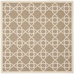 Safavieh Courtyard Poolside Brown/ Beige Indoor Outdoor Rug (6'7 Square)