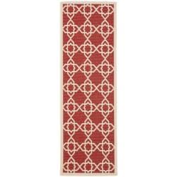 Poolside Red/ Beige Indoor Outdoor Rug (2'4 x 6'7)
