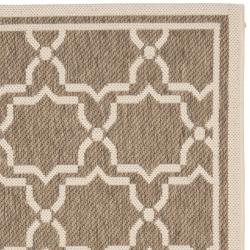 Safavieh Poolside Brown/Bone Indoor/Outdoor Area Rug (2'7