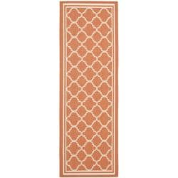 Safavieh Poolside Terracotta/ Bone Indoor Outdoor Rug (2'4 x 6'7)