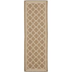 Poolside Brown/ Bone Indoor Outdoor Rug (2'4 x 9'11)