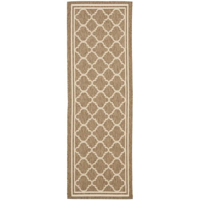 Safavieh Poolside Brown/ Bone Indoor Outdoor Rug (2'4 x 6'7)