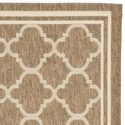 Poolside Brown/ Bone Indoor Outdoor Rug (2'4 x 6'7)