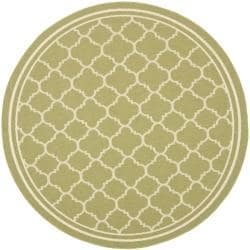Poolside Green/ Beige Indoor/ Outdoor Area Rug (6'7 Round)
