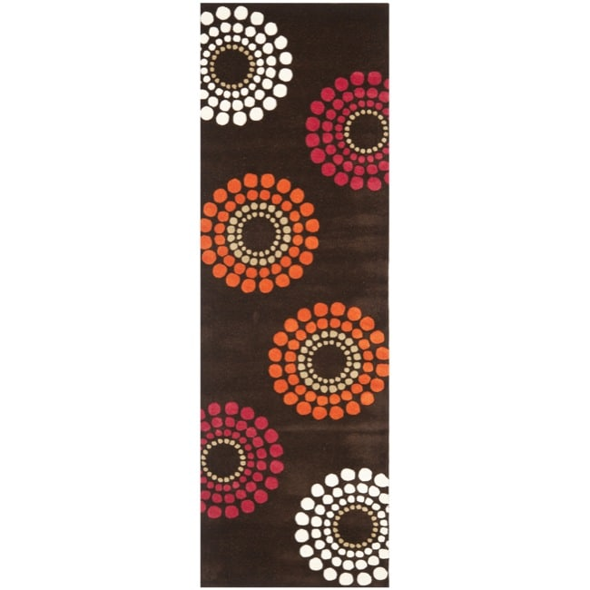 Safavieh Handmade Soho Celeste Brown New Zealand Wool Rug (2'6 x 8')