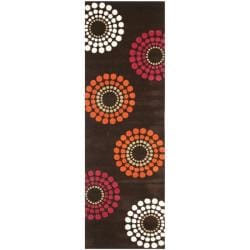 Handmade Soho Celeste Brown New Zealand Wool Rug (2'6 x 8')