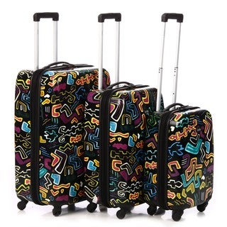 Nicole Miller 'Allegra' 3-piece Hardside Spinner Luggage Set