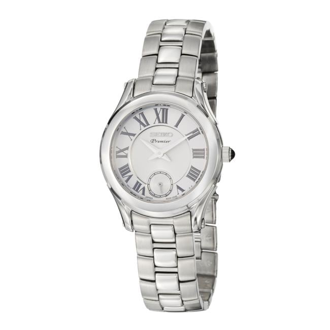 Seiko Women's 'Premier' Stainless Steel Quartz Watch