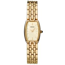 Seiko Women's 'Dress' Yellow Goldplated Steel Quartz Watch