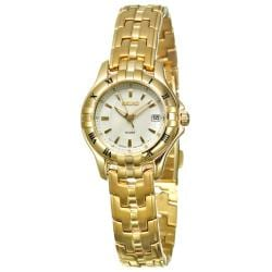 Seiko Women's 'Excelsior' Yellow Goldplated Steel Quartz Watch