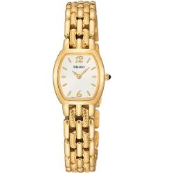 Seiko Women's 'Diamond' Yellow Goldplated Steel Quartz Watch
