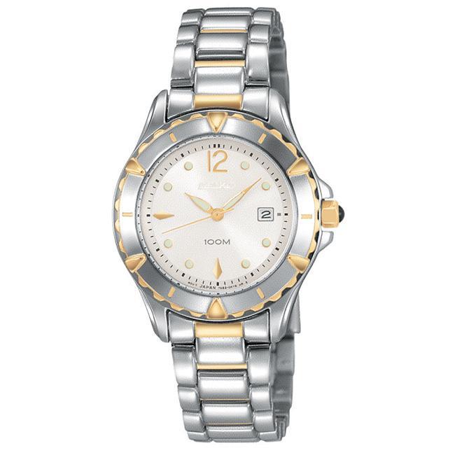 Seiko Women's 'Diamond' Two-tone Steel Quartz Watch