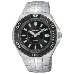 Seiko Men's 'Sport' Stainless Steel Rotating Bezel Quartz Watch