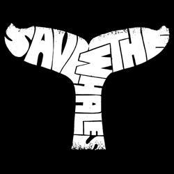 Los Angeles Pop Art Men's 'Save The Whales' Hoodie