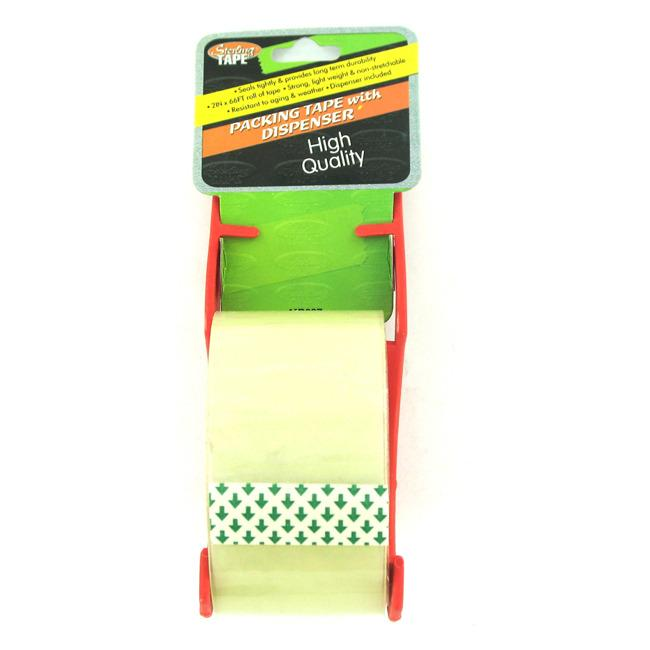High quality 2 inch Pack Tape with Dispensers (Case of 24)