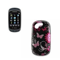 Pink Butterfly Samsung Gravity T T669 Hard Case
