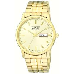 Citizen Men's Eco-drive Flexible Band Goldtone Watch