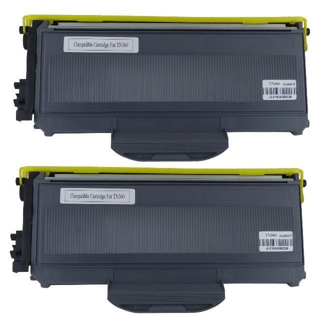 Brother 'TN360' Compatible Black Toner Cartridges(Set of 2)