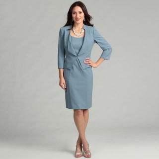 Tahari Women's Paris Blue Two-piece Jacket Dress