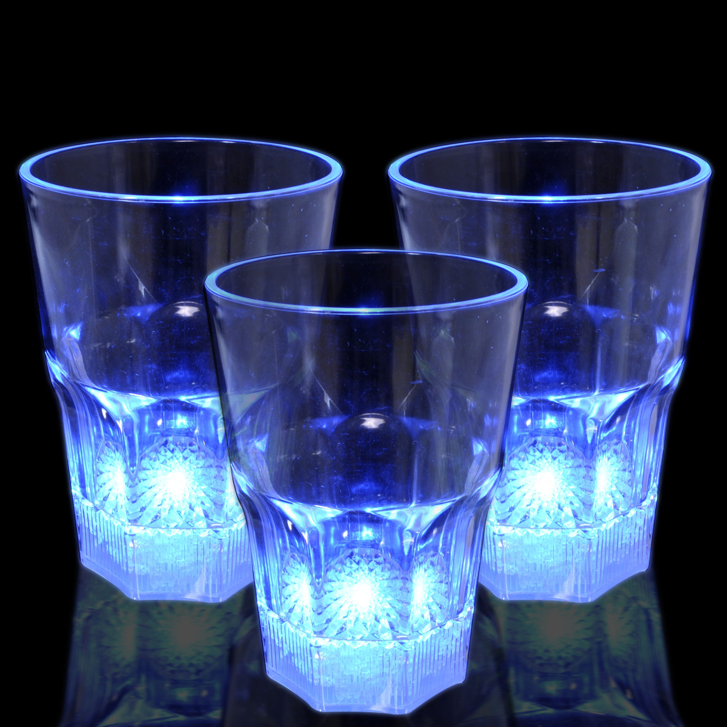 Blue Light Up Water Glass (Set of 12)