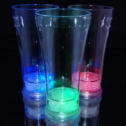 Light Up Pilsner Glass with Multicolor LEDs (Set of 12)