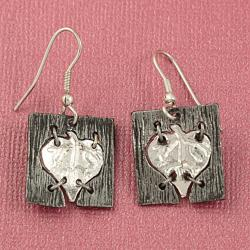 Handcrafted Aspen Leaf Cord Necklace and Earrings Set (India)