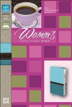 Women's Devotional Bible: New International Version Turquoise / Caribbean Blue Italian Duo-Tone (Paperback)
