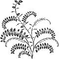 Magenta Cling Stamps-Fern