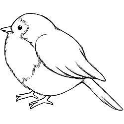 Magenta A Tiny Bird Cling Stamps
