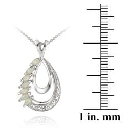 Glitzy Rocks Sterling Silver Diamond Accent Necklace and Earring Set