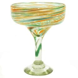 100-percent Recycled Calypso Margarita Glasses (Set of Four) (Mexico)