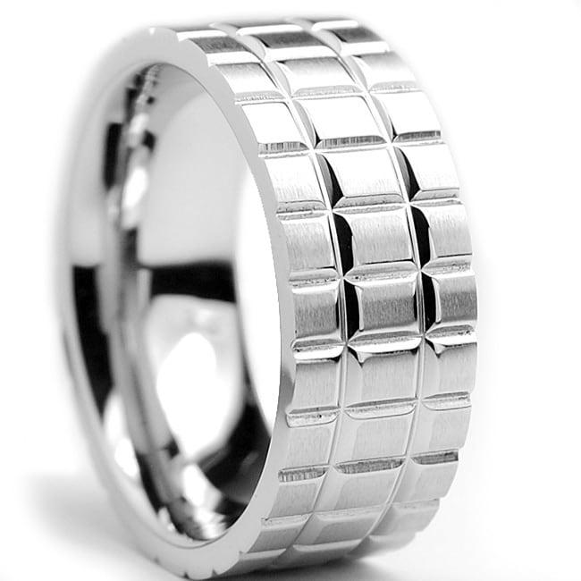 Oliveti Stainless Steel Men's Brushed Ring (8 mm)