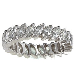 Platinum 3ct TDW Marquise Diamond Eternity Estate Band (J-K, VS1-VS2)