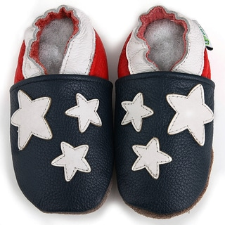 American Flag Soft Sole Leather Baby Shoes