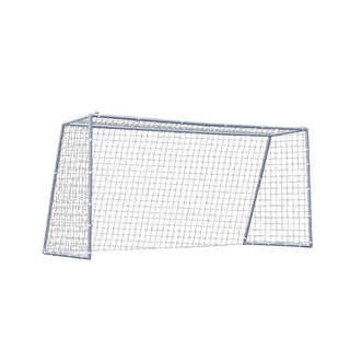 TNT Nine-foot White Soccer Pro Goal with Polyethylene Mesh Net
