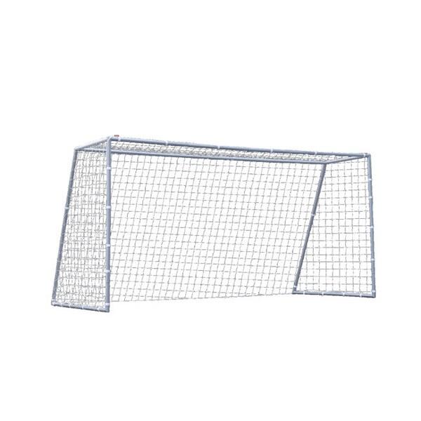 TNT Nine-foot White Soccer Pro Goal with Polyethylene Mesh Net