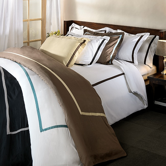 Hotel Collection 300 Thread Count Solid 3-piece Duvet Cover Set