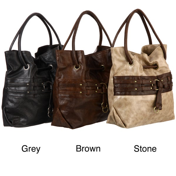 Valencia Buckle Embellished Tote Bag