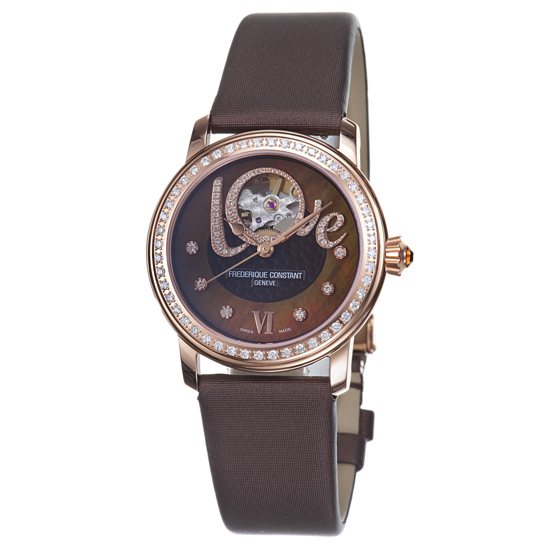Frederique Constant Women's 'LadiesAutomatic' Brown Diamond Dial Watch