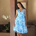 Cotton 'Balinese Sea' Batik Dress (Indonesia)