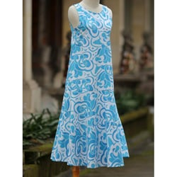 Cotton 'Bali Blue' Batik Dress (Indonesia)