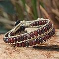 Jasper and Agate 'River of Roses' Wrap Bracelet (Thailand)