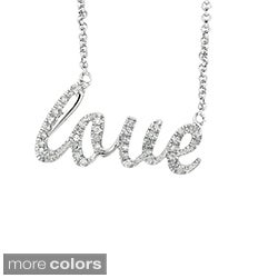 Sterling Silver 1/6ct TDW Diamond Expression LOVE Necklace (H-I, I2-I3)