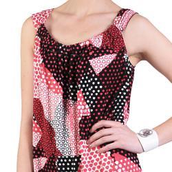 Sangria Women's Sleeveless Stretchy Knit Scoop Neck Dress