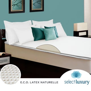 Select Luxury E.C.O. Naturally Dunlop Latex 2-inch King Size Reversible Mattress Topper With Cover