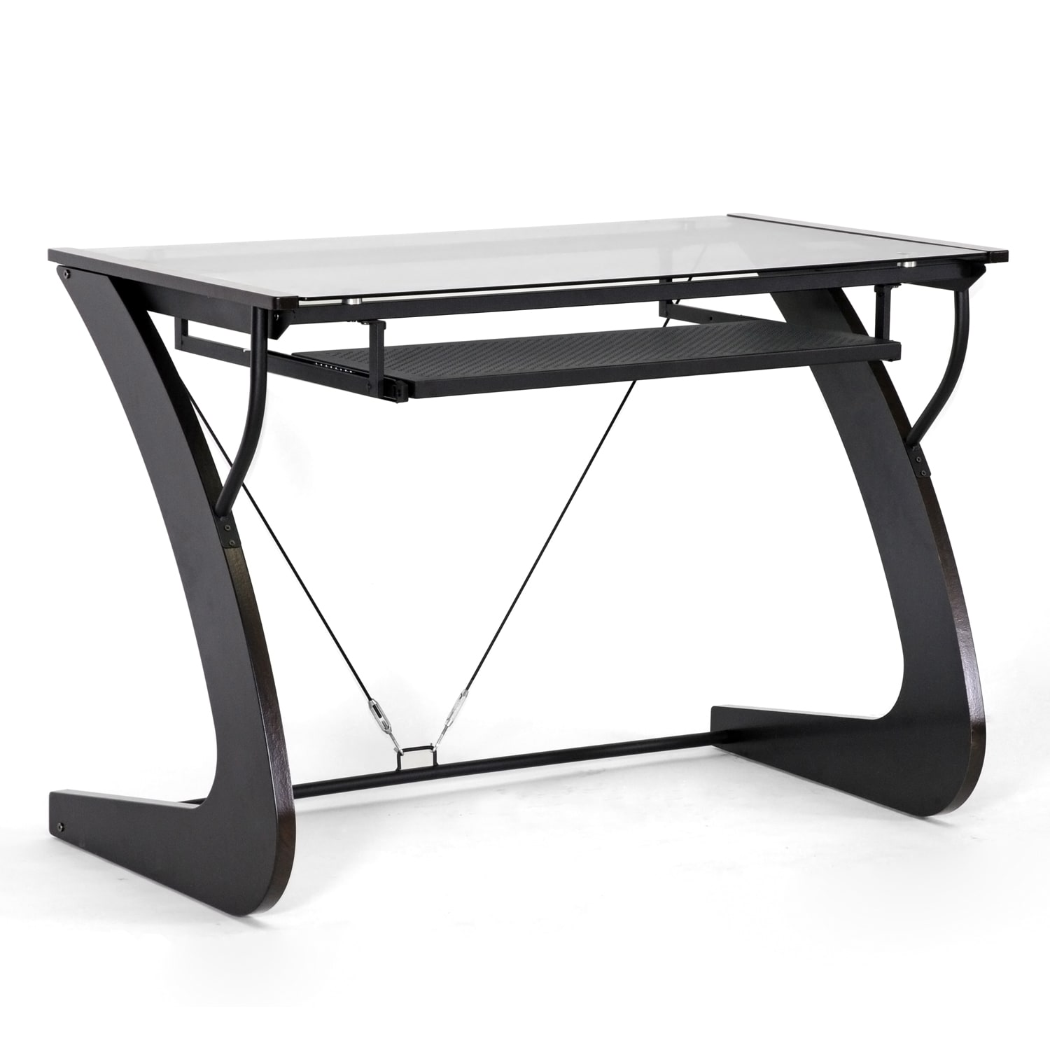 Sculpten Dark Brown Modern Computer Desk - 14173691 - Overstock.com