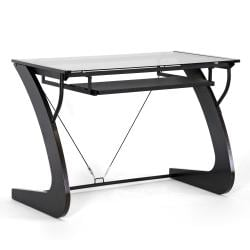 Sculpten Dark Brown Modern Computer Desk