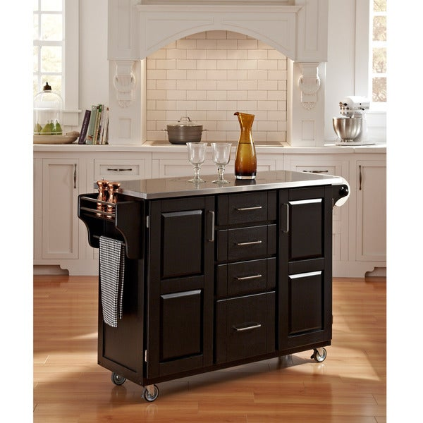 Black Finish Stainless Top Create-a-Cart