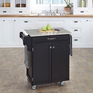 Cuisine Cart Black Finish SP Granite Top